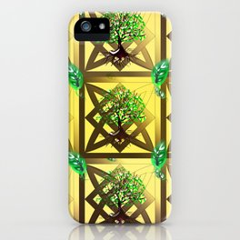 Celtic Tree Pattern iPhone Case