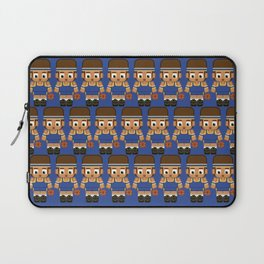 Basketball Blue and Yellow Laptop Sleeve