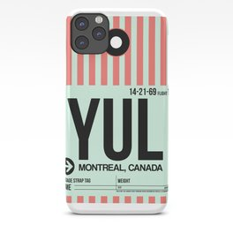 YUL Montreal Luggage Tag 2 iPhone Case