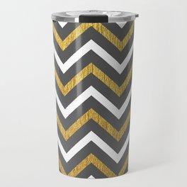 Metallic Zigzag Travel Mug