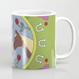 Horse Folk Art Illustration Coffee Mug