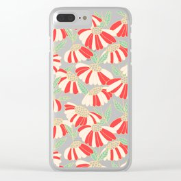 Botany pattern Clear iPhone Case