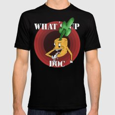 What's Up Doc Mens Fitted Tee Black MEDIUM