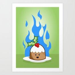 Flaming Pudding Art Print