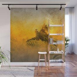 Golden bird flap Wall Mural