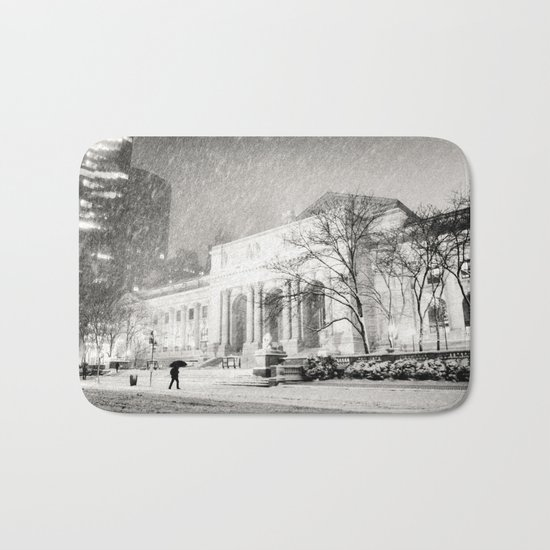 New York City Snow - 5th Avenue Bath Mat