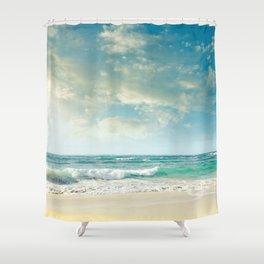 beach love tropical island paradise Shower Curtain