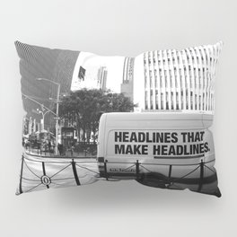 New York Post Truck, Manhattan Pillow Sham