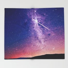 Shooting star Throw Blanket