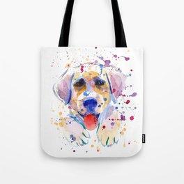 White labrador puppy portrait Tote Bag