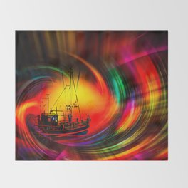 Time- Tunel100 Throw Blanket