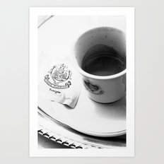 Coffee in Venice Art Print