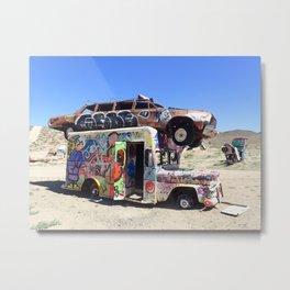 Edgy urban graffiti car art Metal Print