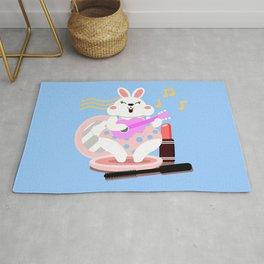 White rabbit_Music Rug
