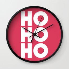 HO HO HO Christmas Santa Claus Wall Clock
