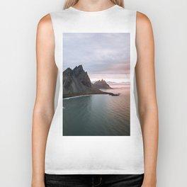 Iceland Mountain Beach Sunrise - Landscape Photography Biker Tank