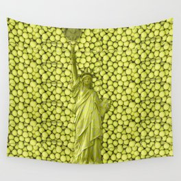 Statue of Liberty with Tennis Balls Wall Tapestry