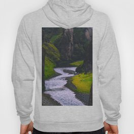 SCANDINAVIAN landscape Secret Green Canyon River Hoody