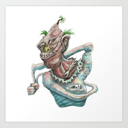 Castaway Clown Art Print
