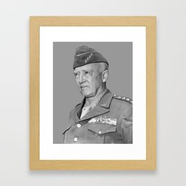 General George S. Patton Framed Art Print