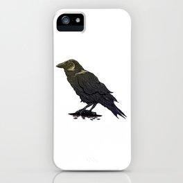 Crow Contemplation iPhone Case