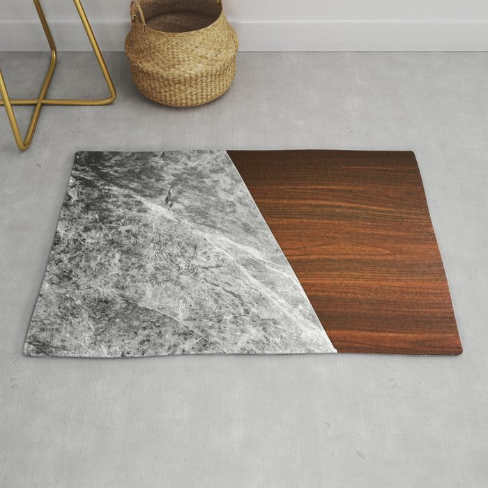Wooden Marble Rug By Nicklasgustafsson