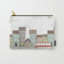 Quirky London Bus Street Scene Carry-All Pouch