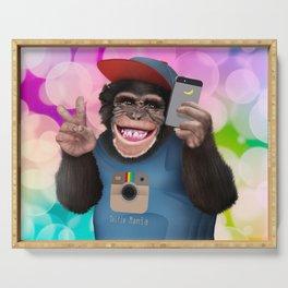 Selfie monkey Serving Tray
