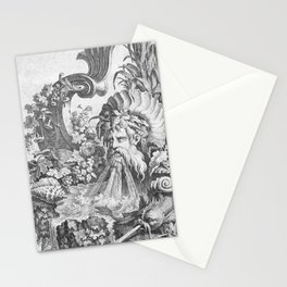 Fountain with Alpheus -  Pierre Quentin Chedel (1738) Stationery Cards