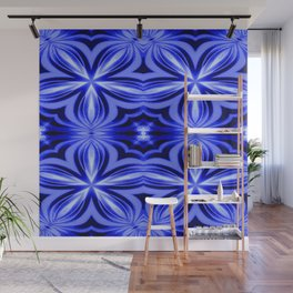 Electric Blue Pattern Wall Mural