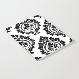 Decorative Damask Art I Black on White Notebook