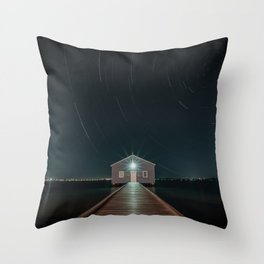The Boat House Star Trail Throw Pillow
