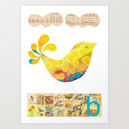 B is for Bird Art Print