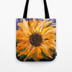 Fiery Sunflower - Original Painting Tote Bag