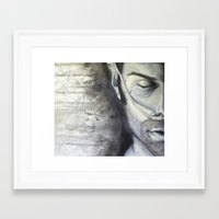 sam winchester Framed Art Prints featuring Sam Winchester by Amanda Kontakos