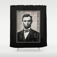 lincoln Shower Curtains featuring Abraham Lincoln by politics