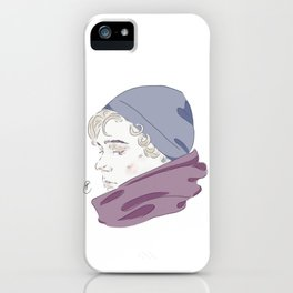 Isak Valtersen (scarf) iPhone Case