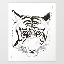 Triptych Tiger Art Print