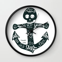 All Men Sailors Wall Clock