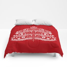 Scandinavian Folk Art Christmas Tree Comforters