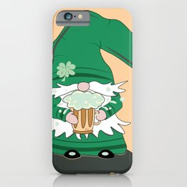 Green St-Patrick's Day Gnome iPhone Case