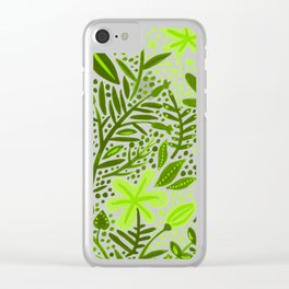 Garden – Lime Green Palette Clear iPhone Case