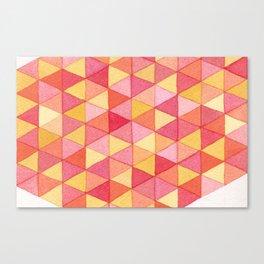 Watercolor Geometric Triangles Canvas Print