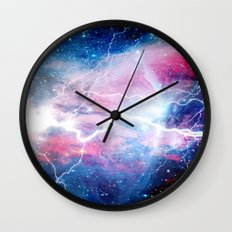 Starred Lightning Wall Clock