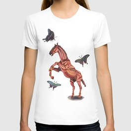 horse and butterfly T-shirt