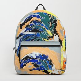 Paint 04 Chuck Funky Rooster Painting Backpack