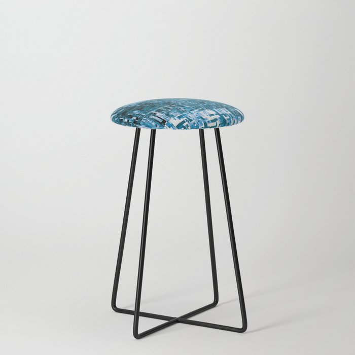 Circuitry Abstract Counter Stool