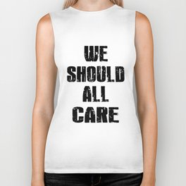 we should all care stronger mens or womens black autism nurse Biker Tank