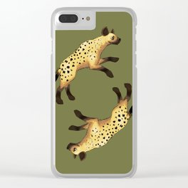 Hyenas Clear iPhone Case
