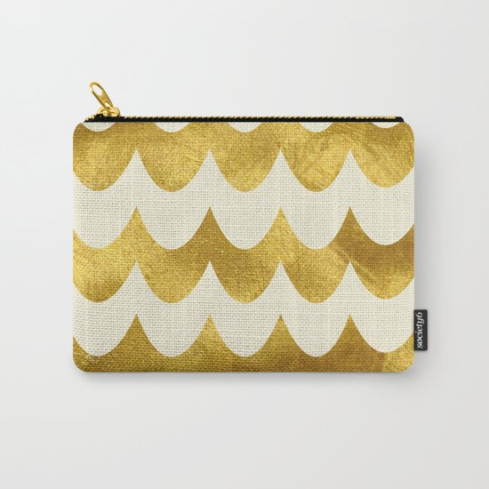Cream Gold Foil 04 Carry-All Pouch